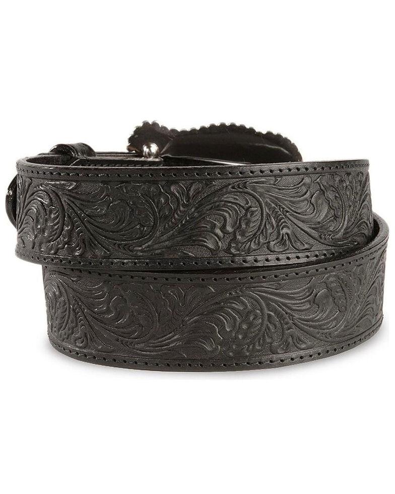 Tony Lama Black Layla Leather Belt, Black, hi-res