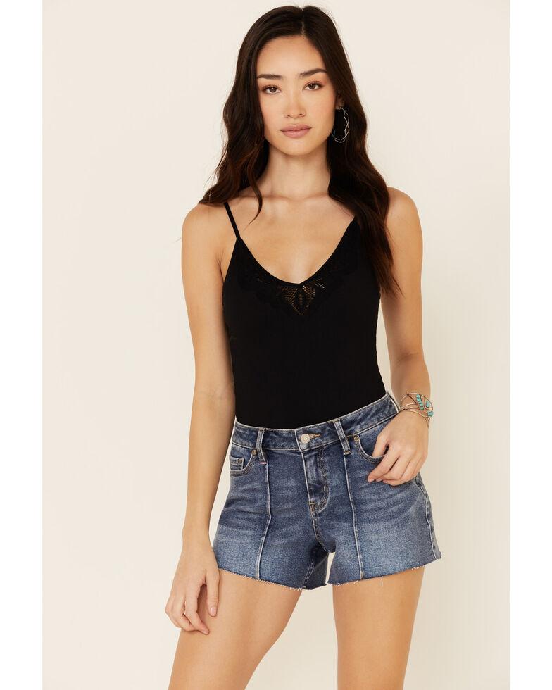 Idyllwind Women's Pintuck Front Hem Shorts, Dark Blue, hi-res
