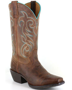 fabf74ce75 Shyanne Women's Xero Gravity Embroidered Performance Boots - Square Toe