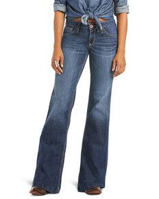 Ariat Women's Evie Trouser Leg Jeans, Blue, hi-res