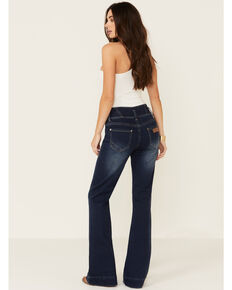 Rock & Roll Denim Women's Extended Waist Trouser Jeans, Blue, hi-res