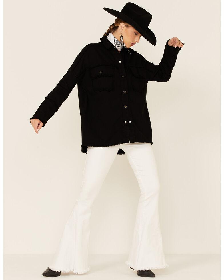 Elan Women's All You Need Is Love Shacket Jacket , Black, hi-res