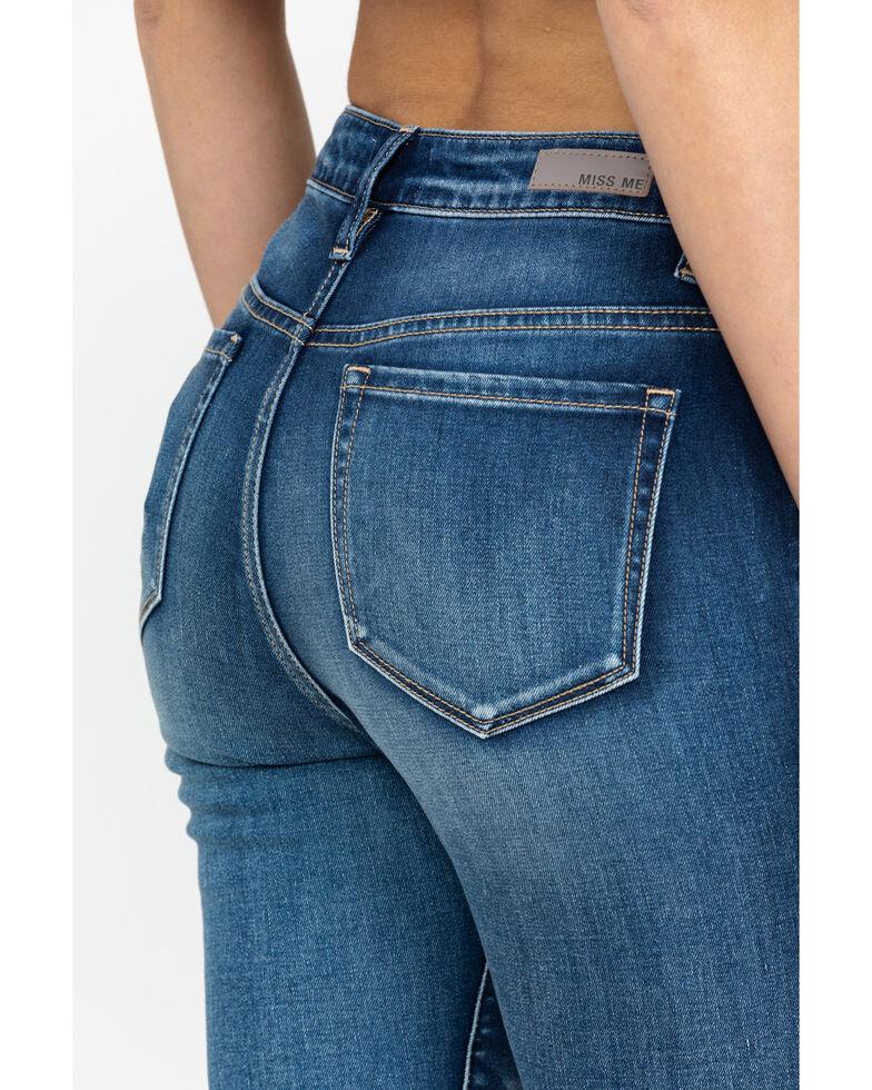 Miss Me Women's High Rise Medium Wash Skinny Jeans, Medium Blue, hi-res