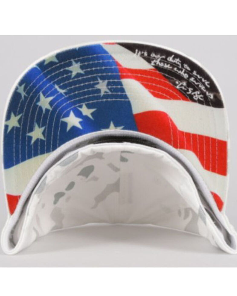 HOOey Men's White Camo Chris Kyle Flex Fit Ball Cap , White, hi-res