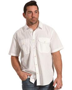 Filson Men's White Feather Cloth Short Sleeve Shirt , White, hi-res
