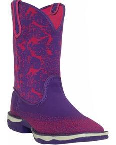 Laredo Women's Purple Performair Washable Western Boots - Square Toe , Purple, hi-res