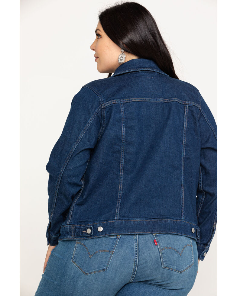 Levi's Women's Surf-Side Original Trucker Jacket - Plus, Blue, hi-res