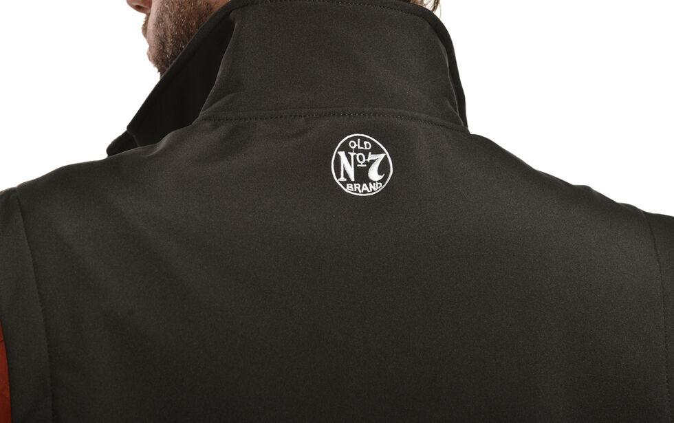 Jack Daniel's Men's Old No 7 Softshell Vest, Black, hi-res