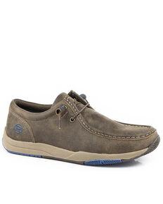 Roper Men's Clearcut Leather Shoes - Moc Toe, Brown, hi-res