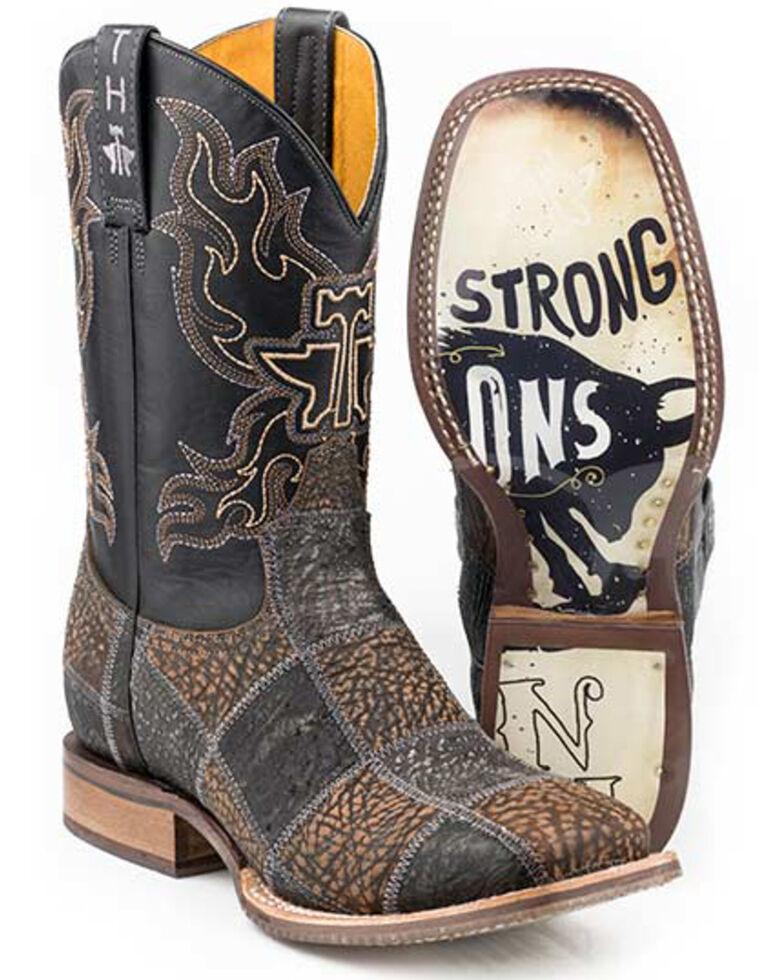 Tin Haul Men's No Bull Western Boots - Wide Square Toe, Black, hi-res