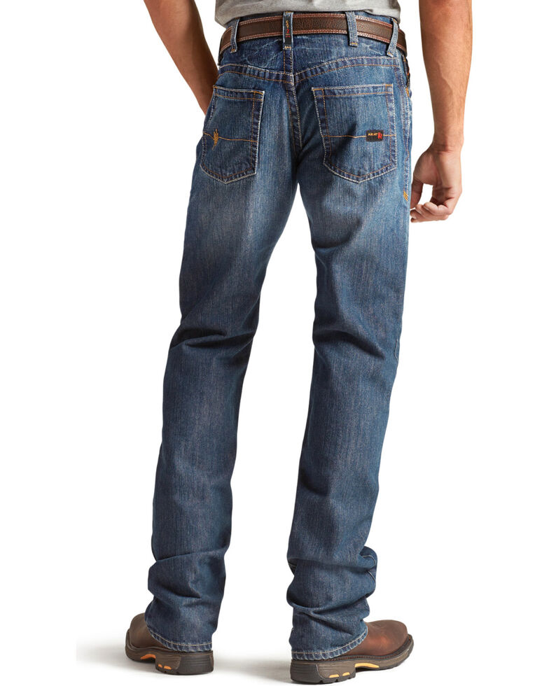 Ariat Men's M4 Flame Resistant Alloy Bootcut Jeans - Big & Tall, Indigo, hi-res