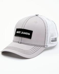 Cody James Men's Grey Logo Patch Mesh-Back Flex-Fit Ball Cap, Grey, hi-res