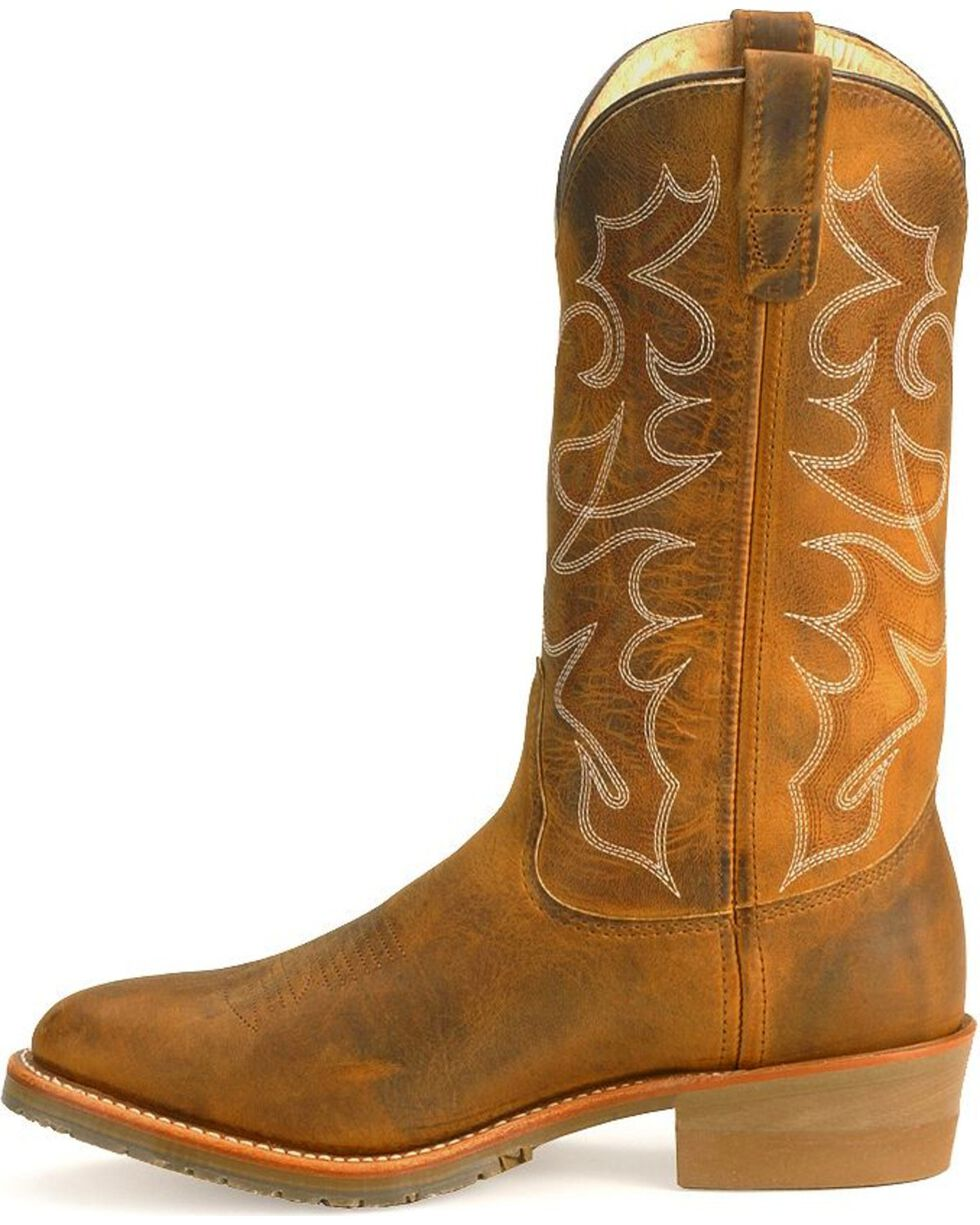 Double H Gel Ice Work Boots - Soft Toe, Brown, hi-res