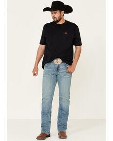 Rock 47 By Wrangler Men's Banjo Light Stretch Slim Bootcut Jeans , Blue, hi-res