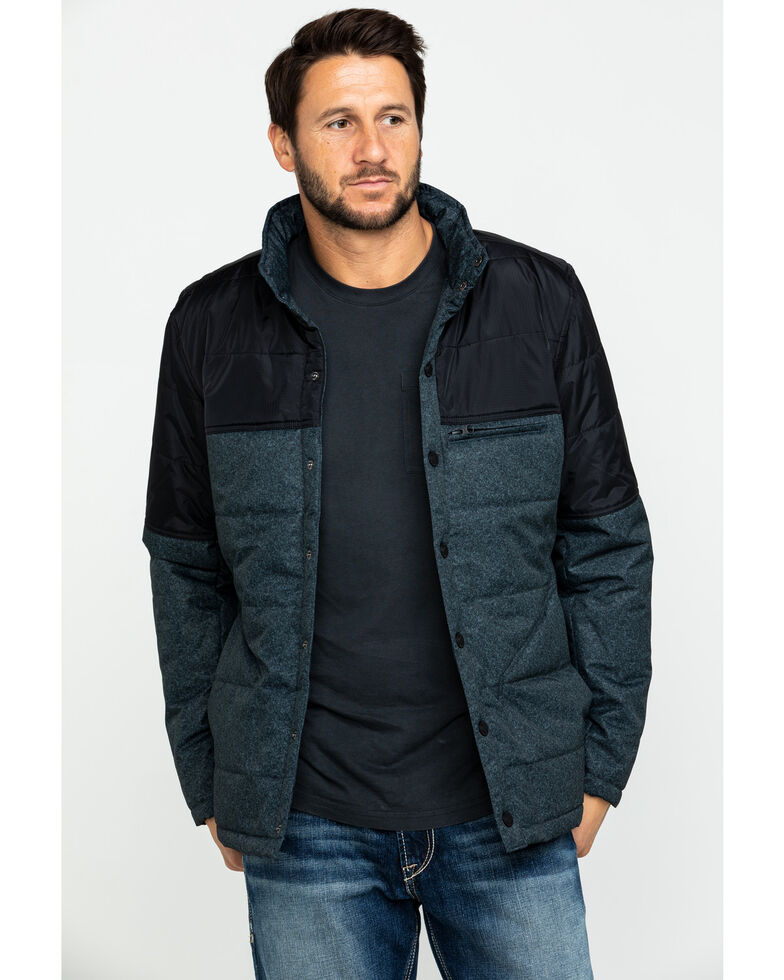 Cody James Men's Climber Lightweight Two-Tone Puffer Coat , Charcoal, hi-res