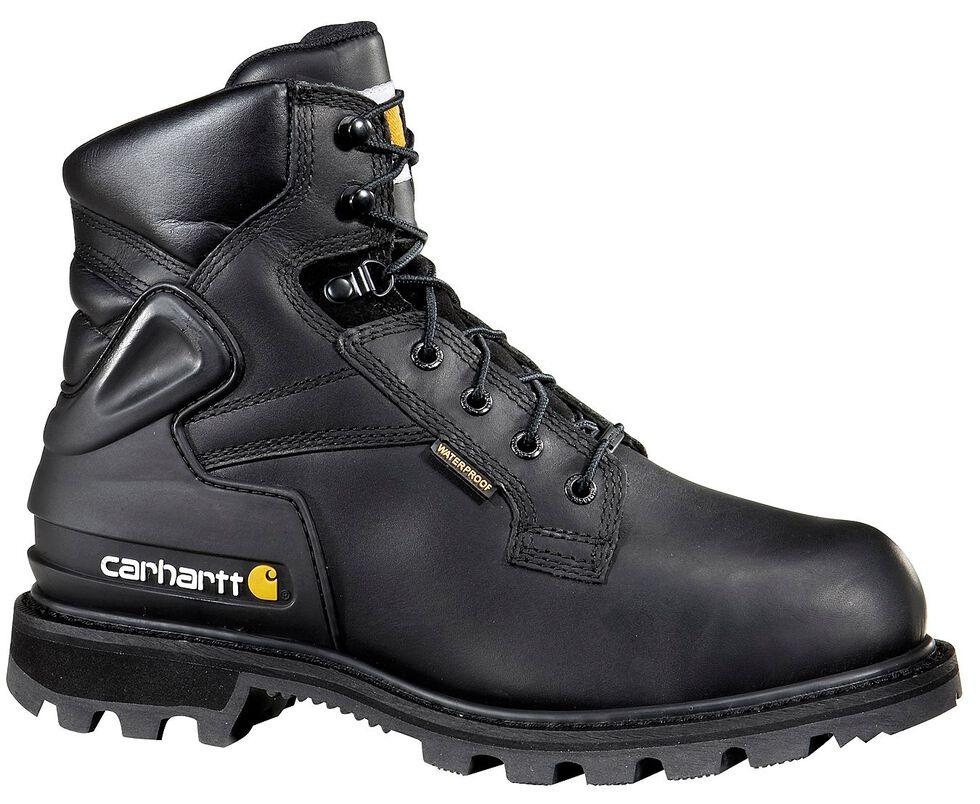 """Carhartt 6"""" Black Work Boots - Composite Toe, Black, hi-res"""