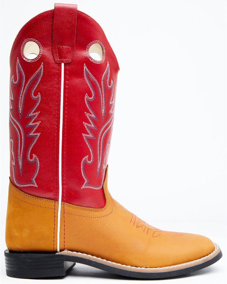 Old West Boys' Ultra-Flex Western Boots - Wide Square Toe, Black, hi-res