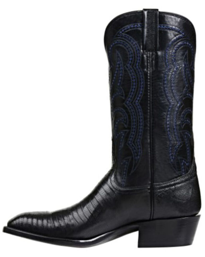 Lucchese Men's Kip Exotic Lizard Skin Western Boots - Square Toe, Black, hi-res