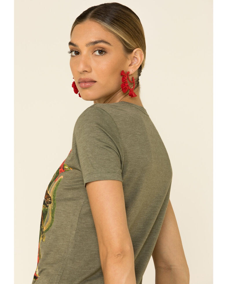 Rodeo Quincy Women's Olive Ranch Romance Graphic Tee, Olive, hi-res
