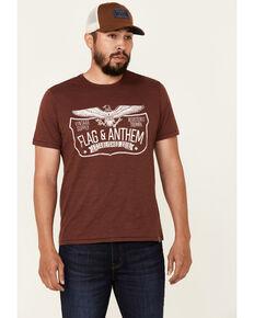 Flag & Anthem Men's Trademark Logo Burnout Short Sleeve T-Shirt , Maroon, hi-res