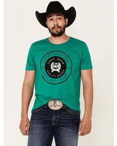 Cinch Men's Circle Logo Graphic Short Sleeve T-Shirt , Green, hi-res