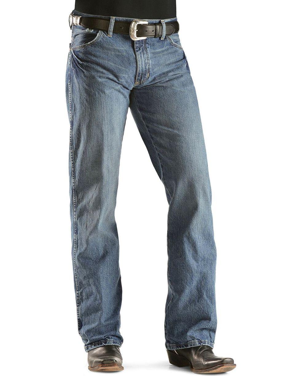 """Wrangler Jeans - Premium Patch Slim 77 - 38"""" Tall Inseam, Worn Denim, hi-res"""