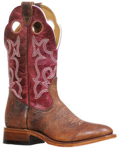 Boulet Women's Round Toe Western Boots, Brown, hi-res