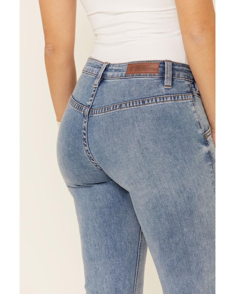 Rock & Roll Denim Women's Front Yoke Riding Jeans, Blue, hi-res