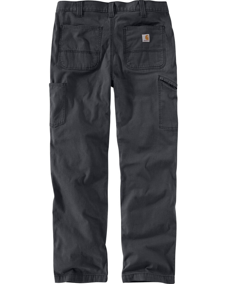 Carhartt Men's Rugged Flex Rigby Double-Front Pants - Straight Leg, Dark Grey, hi-res
