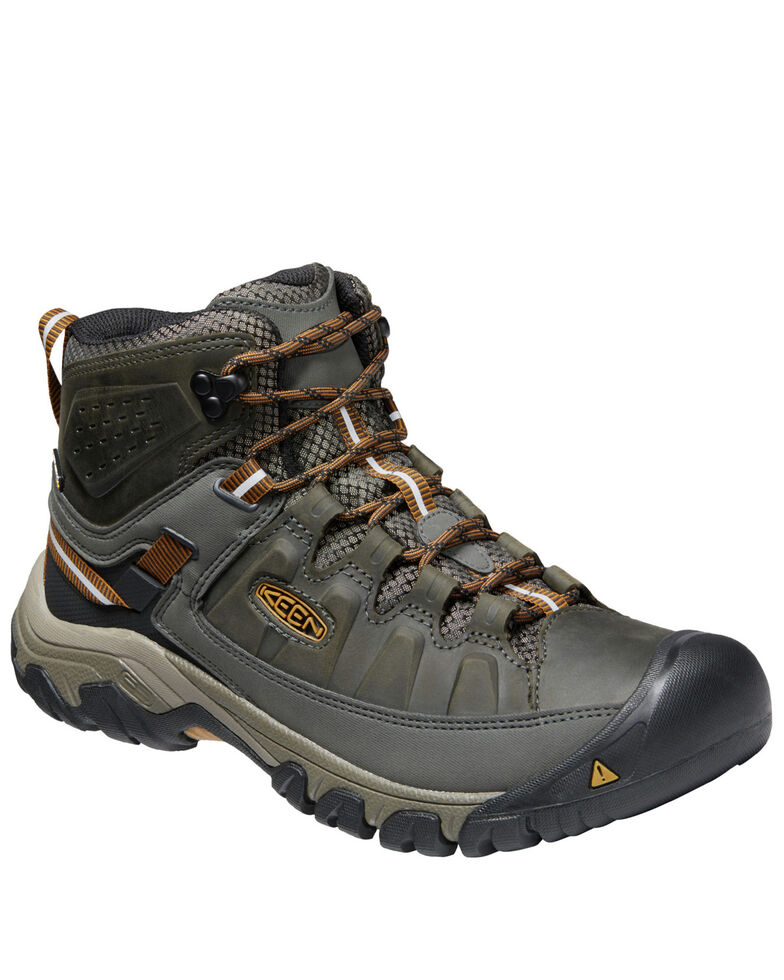 Keen Men's Targhee III Waterproof Hiking Boots - Soft Toe, Brown, hi-res