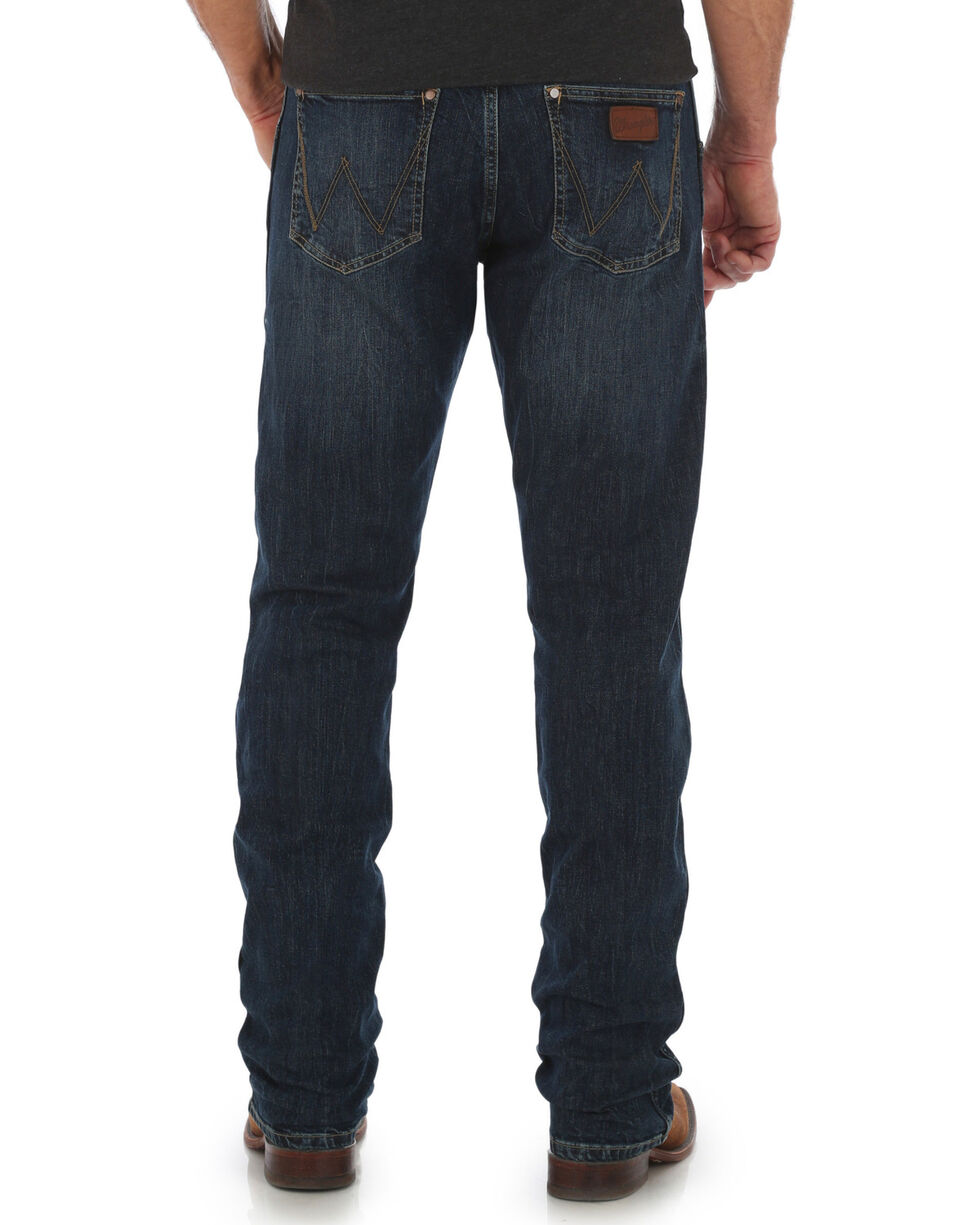 Wrangler Retro Men's Oldham Slim Straight Jeans, Blue, hi-res