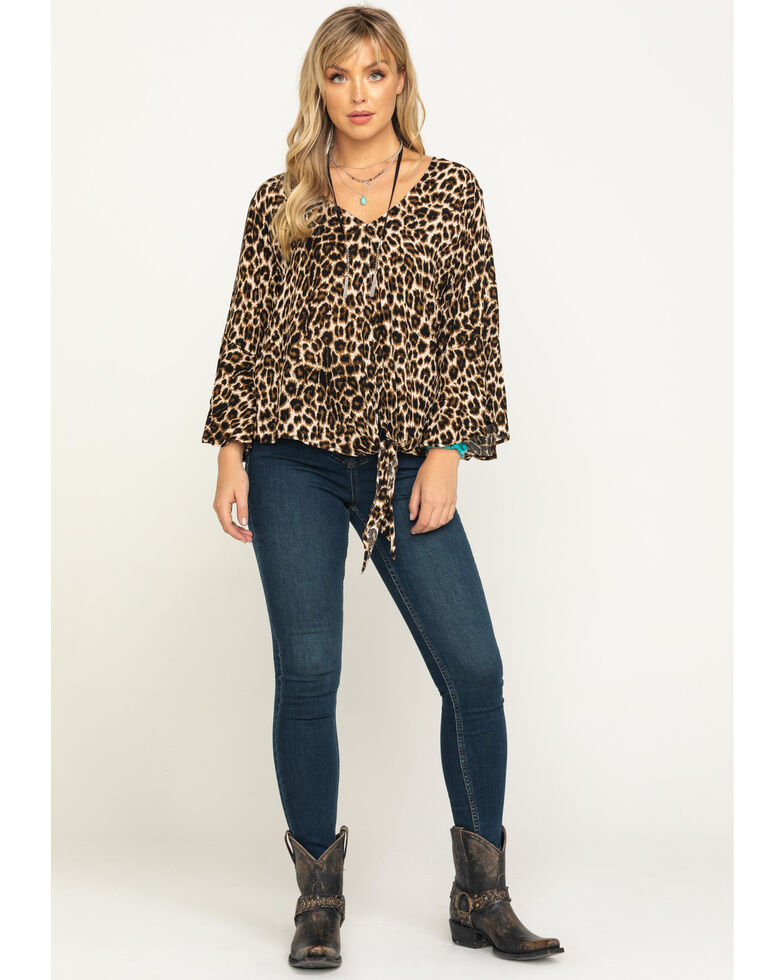 Ariat Women's Marilyn Top, Leopard, hi-res