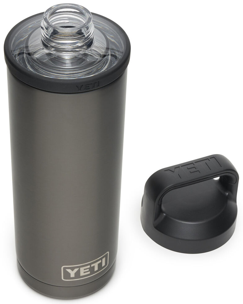 YETI Rambler 18 oz Bottle with Chug Cap, Dark Grey, hi-res