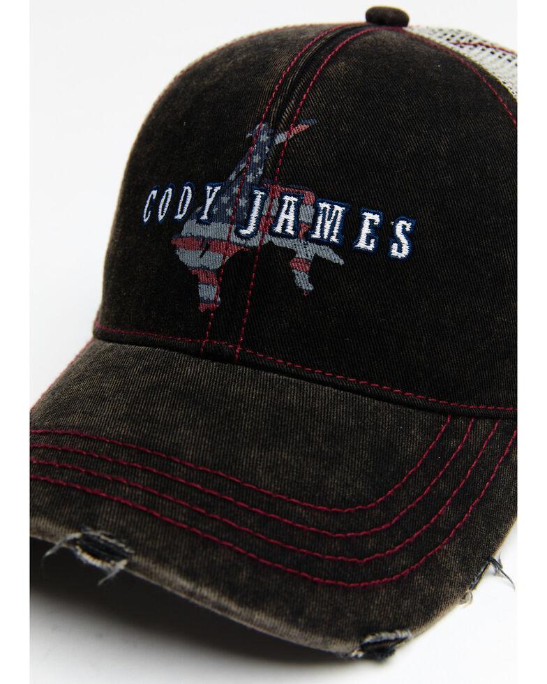 Cody James Men's Freedom Bronco Mesh Cap , Black, hi-res