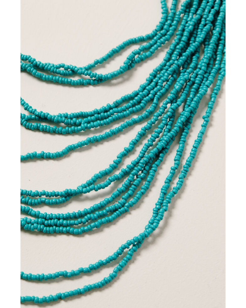 Shyanne Women's Ida Turquoise Multi Strand Beaded Necklace, Silver, hi-res