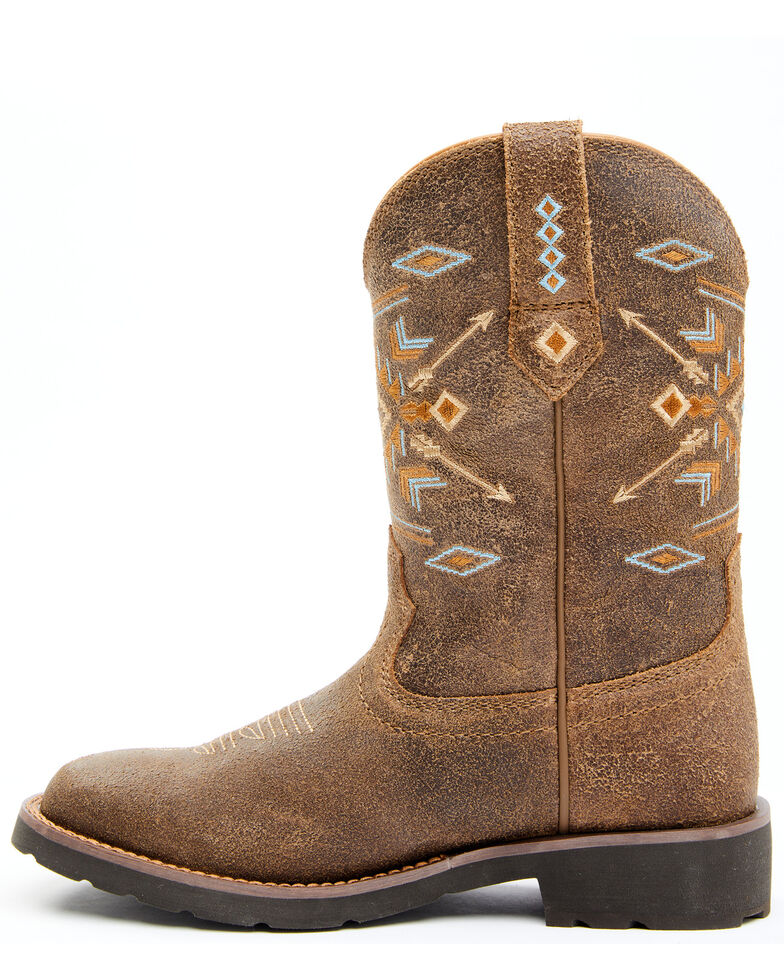 Shyanne Women's Aquinnah Western Boots - Wide Square Toe, Brown, hi-res