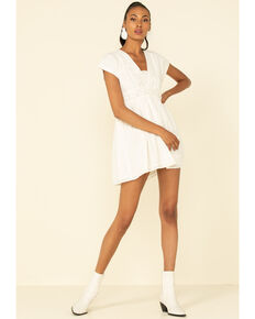 Shyanne Women's Embroidered Summer Dress , White, hi-res
