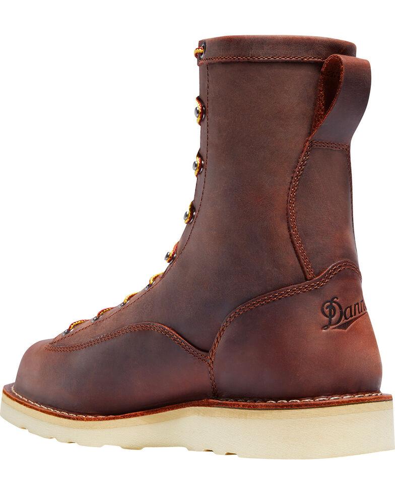 """Danner Men's Brown Bull Run 8"""" Work Boots - Plain Toe, Brown, hi-res"""