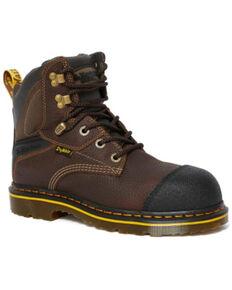 Dr. Martens Men's Duxford Waterproof Work Boots - Steel Toe, Brown, hi-res