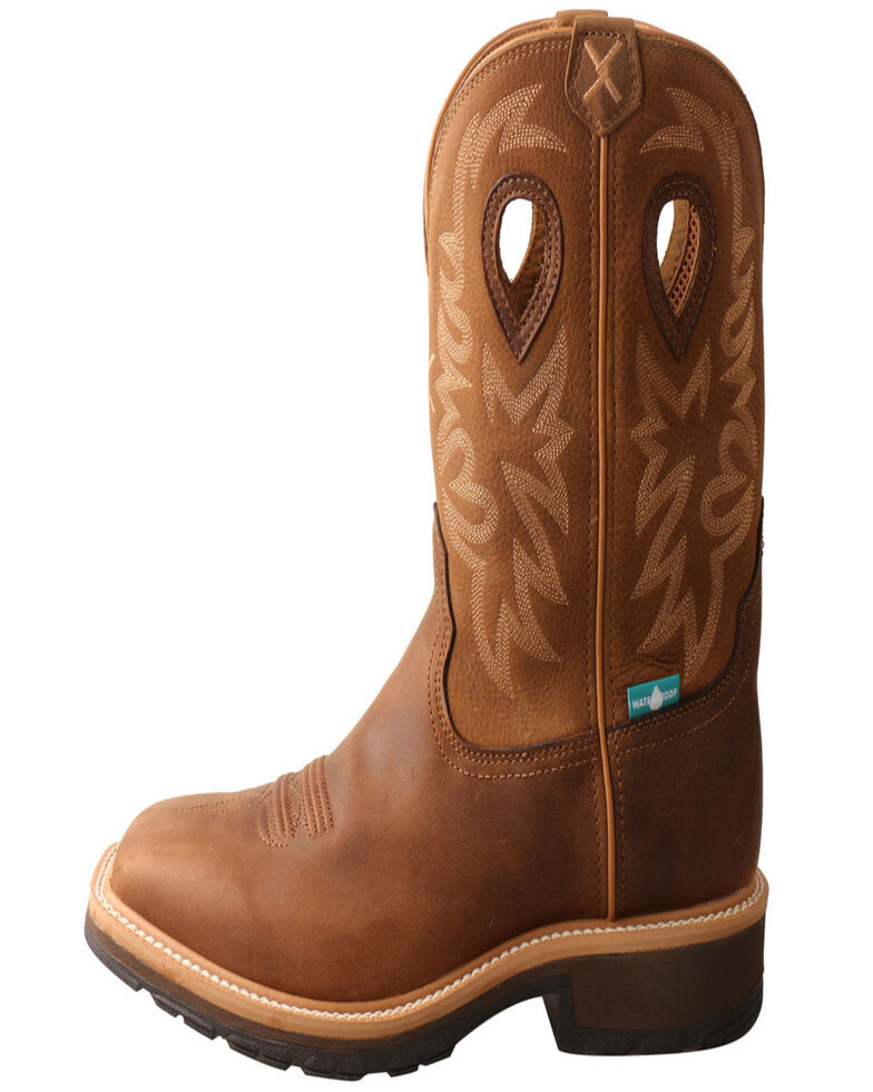 Twisted X Men's Brown Western Work Boots, Brown, hi-res