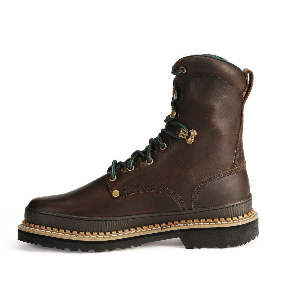 """Georgia Giant 8"""" Lace-Up Work Boots, Brown, hi-res"""