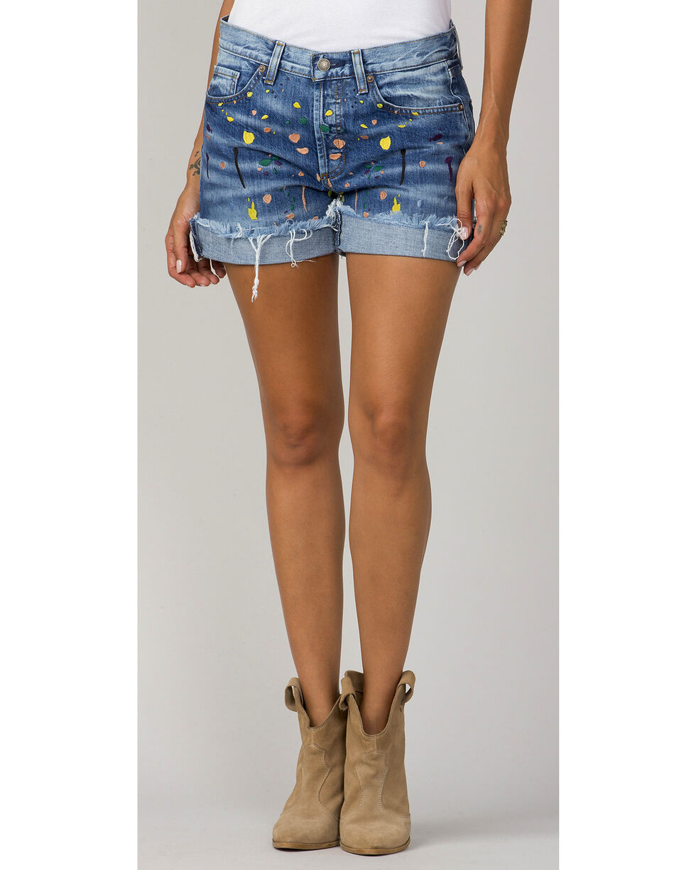 MM Vintage Women's Riley Boyfriend Shorts, Indigo, hi-res