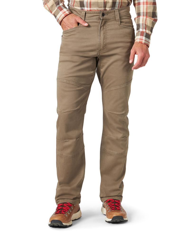 Wrangler All-Terrain Men's Morel Utility Asymmetric Cargo Pants , Brown, hi-res