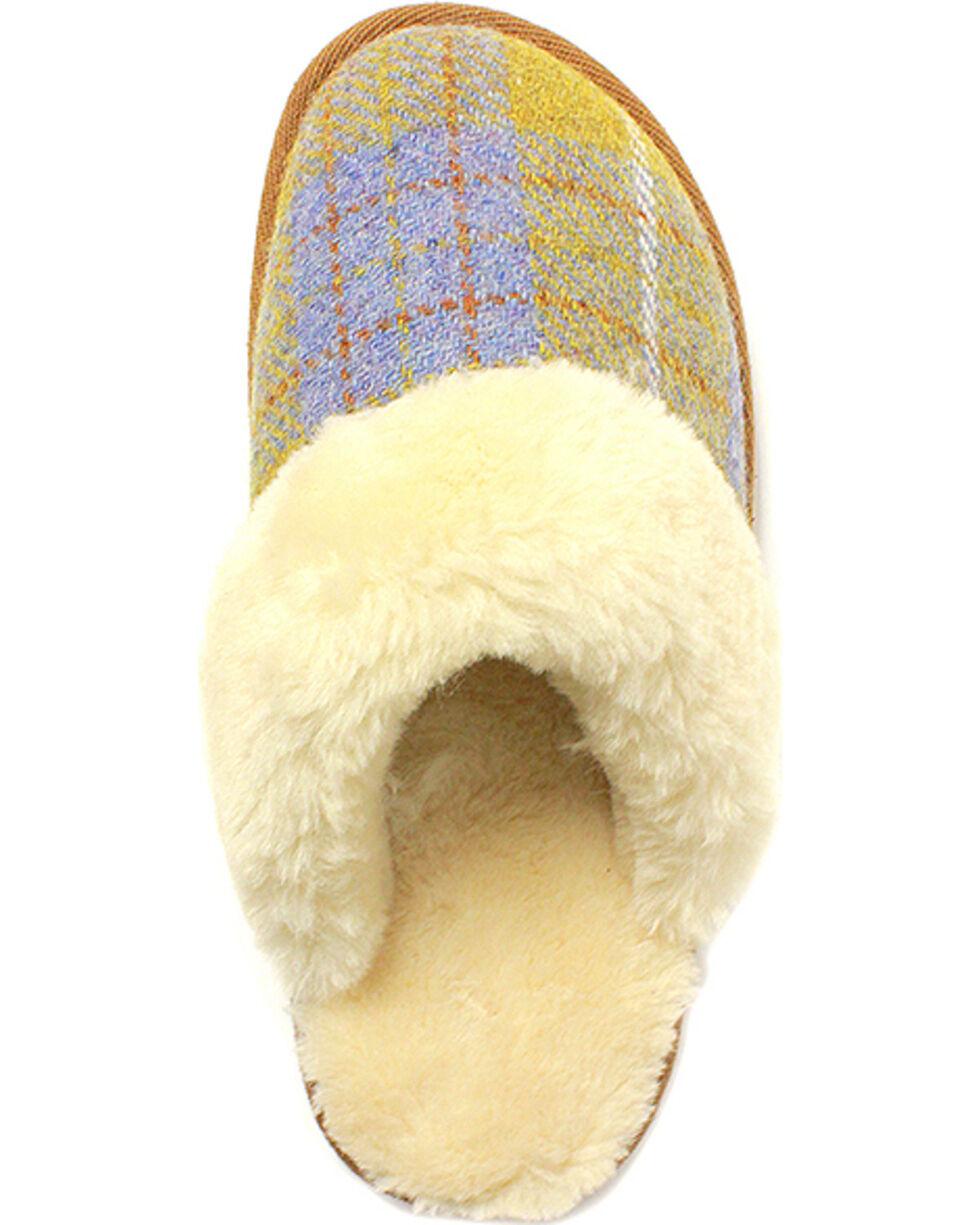 Lamo Footwear Women's Wembley Scuff Slippers , Yellow, hi-res
