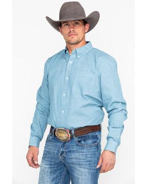 Cody James Men's Cross Roads Long Sleeve Western Shirt, Turquoise, hi-res