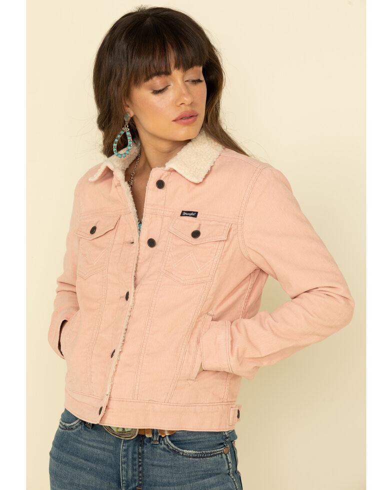 Wrangler Retro Women's Pink Corduroy Sherpa Jacket, Pink, hi-res