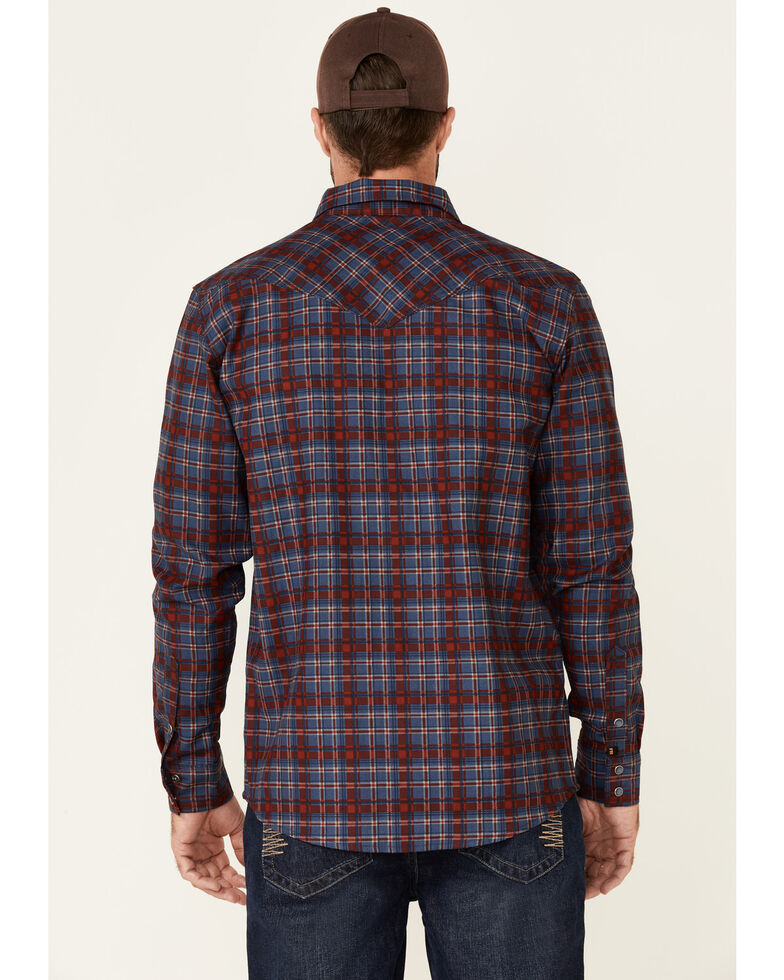 Cody James Men's FR Indigo Plaid Long Sleeve Work Shirt - Tall , Indigo, hi-res