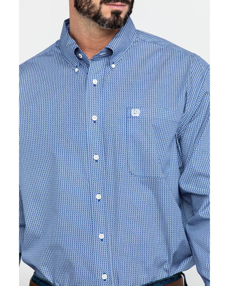 Cinch Men's Royal Geo Print Long Sleeve Western Shirt , Royal Blue, hi-res
