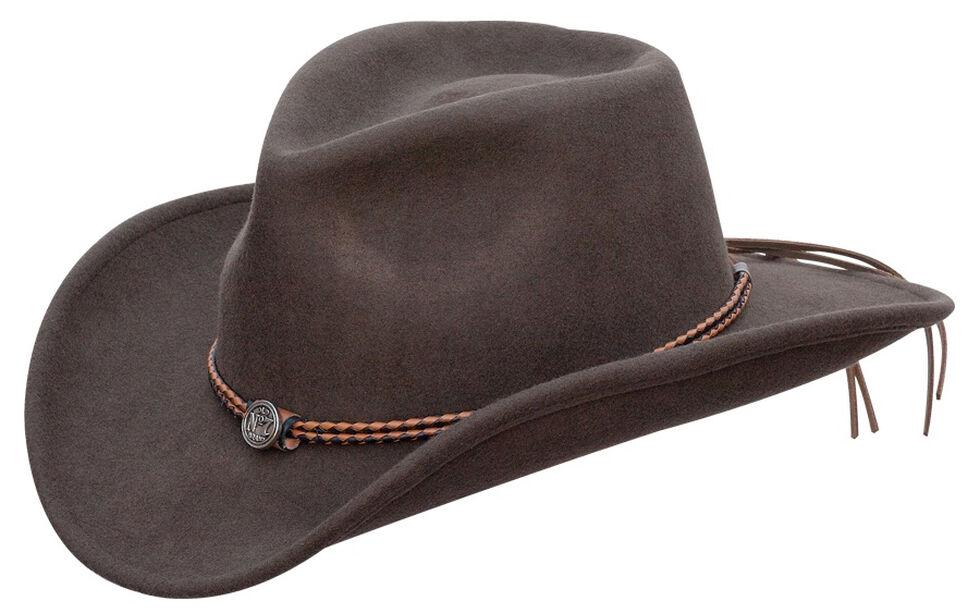 Jack Daniel s Twisted Leather Bend-A-Brim Wool Felt Crushable Cowboy ... 79af1c62a83