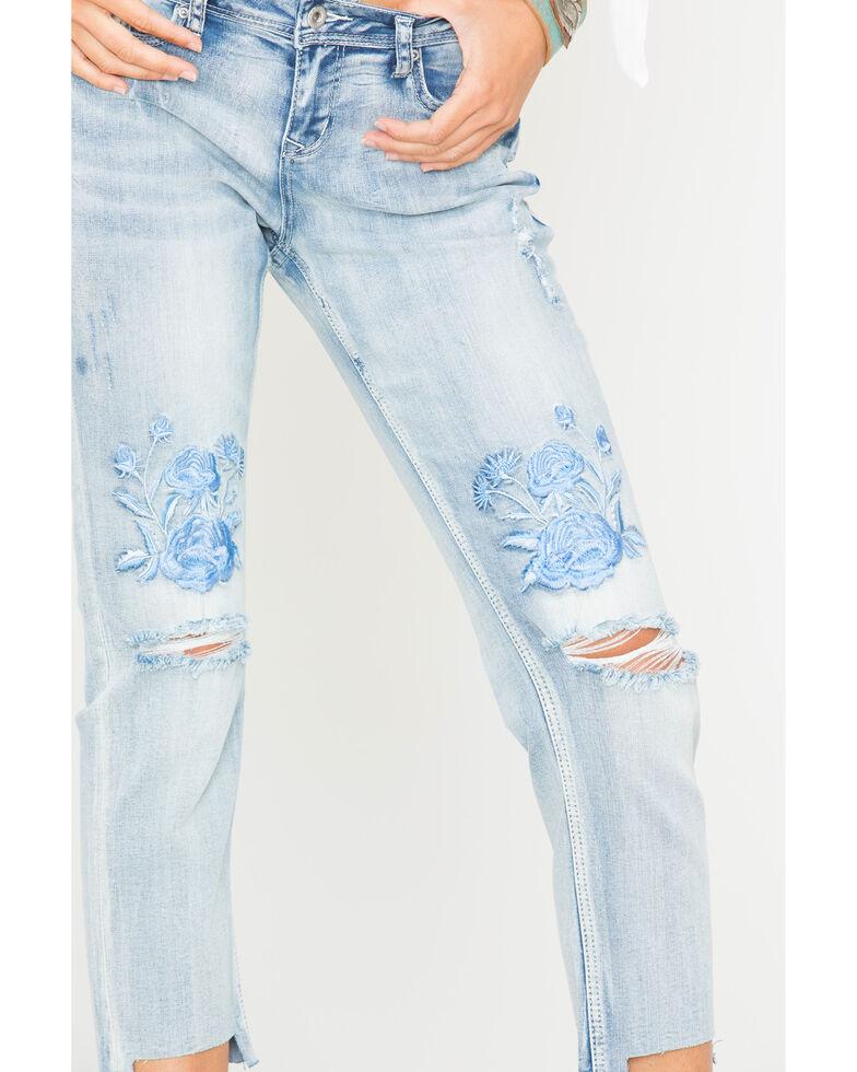 Grace in LA Women's Embroidered Boyfriend Jeans - Straight Leg , , hi-res